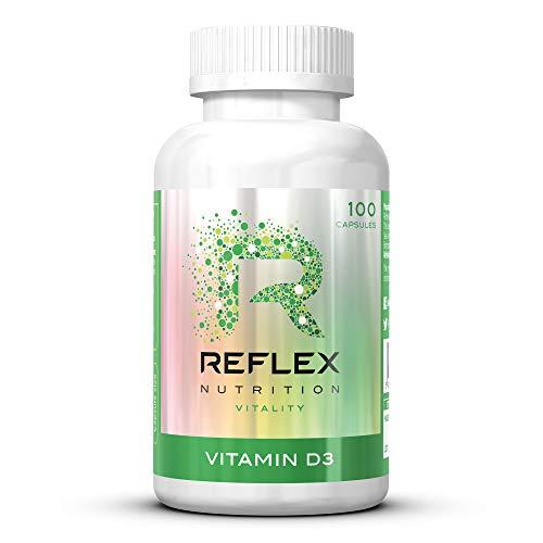 Reflex Nutrition   Vitamin D Tablets   2000 IU   Daily Supplement Sunshine   Vitamin D3   (100 Caps)