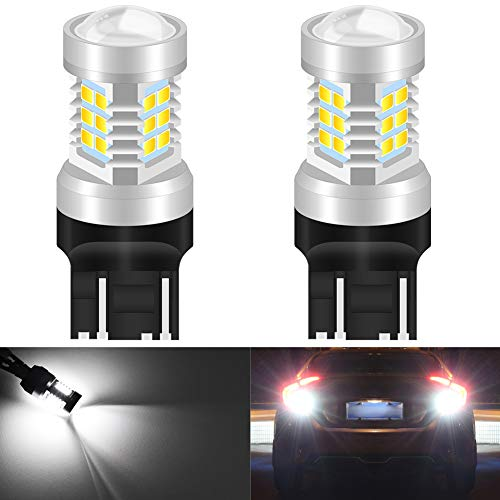 KaTur 7056 1156 BA15S 1141 P21W Wit LED Lampen 2835 21SMD 80W High Power 12V Lens LED Turn Signal Back Up Reverse Staart Rem LED Licht (Pack van 2) 2pcs 7443 Kleur: wit