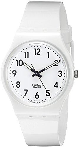 Swatch Artful Ways - Reloj Unisex de Cuarzo, Correa de Caucho Color Blanco