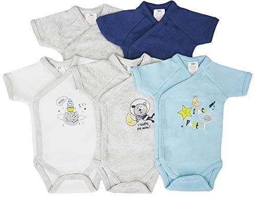 Pack de 5 bodis de manga corta para bebé, de algodón Space