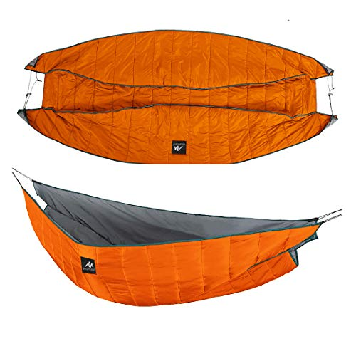 AYAMAYA Double Hammock Underquilt Under Quilts Large Size 250x130cm, Winter 4 Season 0 Degree Cold...