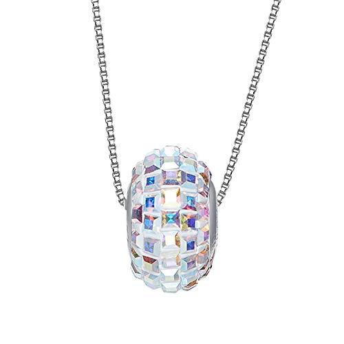 WANGLXTC Mode Frauen Anhänger Halskette, Lucky Transfer Perlenkette Mit Swarovski Elements Schmuck, Geschenkbox, Symbol Für Glück Und Erneuerung Exquisit, A