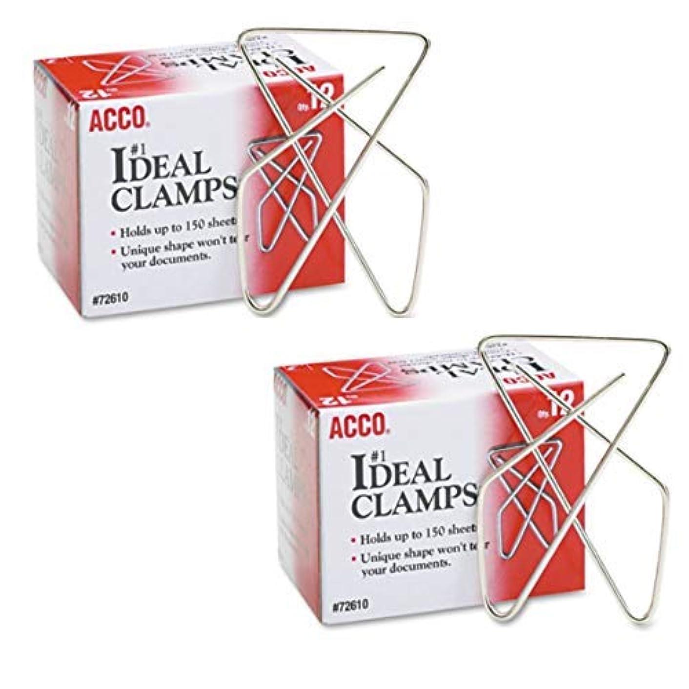 ピグマリオン喜んでトランクライブラリIdeal Clamps, Steel Wire, Large, 2-5/8'', Silver, 2 BOXES (12/Box) [並行輸入品]