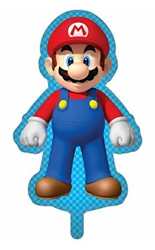 Nintendo Super Mario Supershaped Giant Foil Helium Balloon 86cm x 52cm
