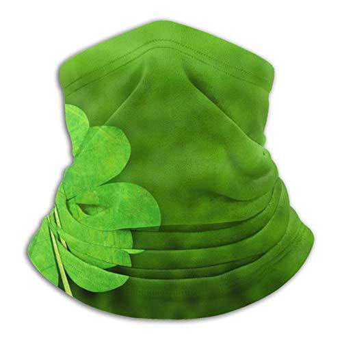 Pengyong Green Clover Closeup - Pasamontañas para el cuello (resistente al viento), color verde