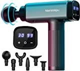 Massage Gun Deep Tissue,Powerful 30 Speeds Percussion Muscle Massager, 2600mah Electric Handheld Muscle Massage Gun,Portable Fascia Gun with 6 Massager Heads for Athletes Muscle Tension Pain Relief