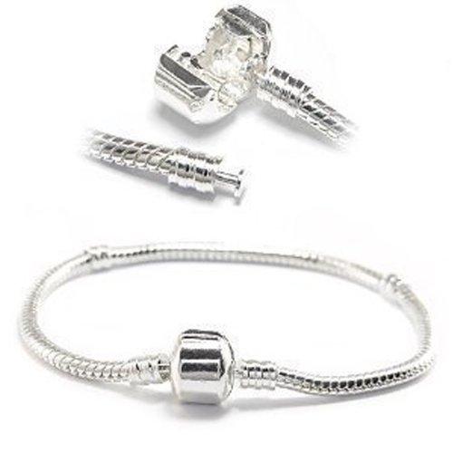 SEXY SPARKLES Women's 8.25 Inch Clasp Style Snake Chain Bracelet