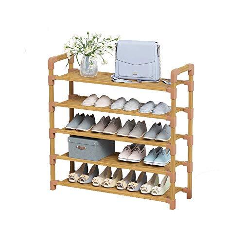 FCSFSF Zapatero, creativo simple dormitorio sala de estar de madera estante de almacenamiento de zapatos para el hogar multifunción de madera maciza zapatero rack para entrada