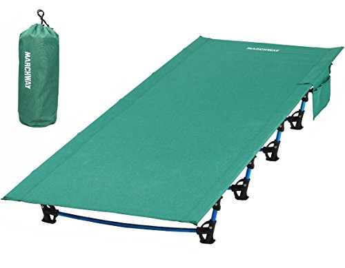 MARCHWAY Ultralight Folding Tent Camping Cot Bed, Portable Compact for Outdoor Travel, Base Camp, Hiking, Mountaineering, Lightweight Backpacking (Green)
