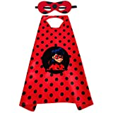 Accesorios Para Disfraz de Mariquita Niña Halloween Ladybug Viste a Cosplay 3-10 años Carnaval Cumpleaños Halloween Costume Vestitos Fiesta Ceremonia Ropa (máscara+bolsos)
