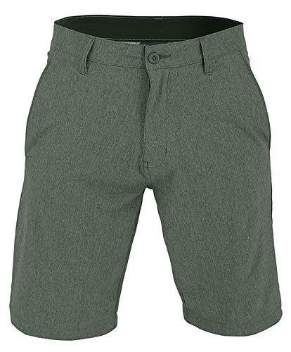 US Apparel Men's Walker Quick Dry Microfiber Swim Shorts, Dark Green, 32