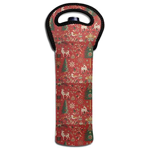 Thermoisolierte Flaschendeckel für Weinflaschen, Weihnachtsdekoration, Rot