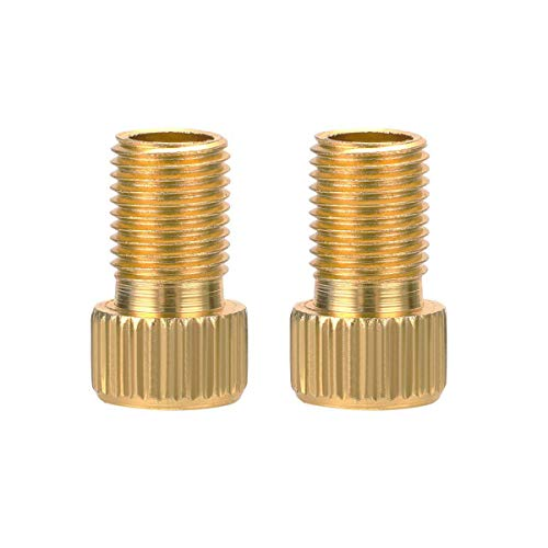 July miracle 2pcs Presta to Schrader Brass Bike Bicycle Valve Adaptor with Seal Ring Adapter Converter