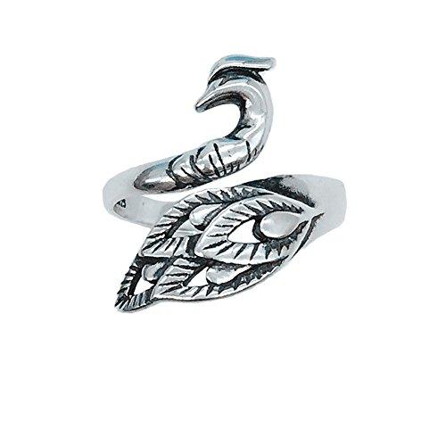 'Helen Lete im Vintage-Stil, Phoenix, Ring, Sterling-Silber