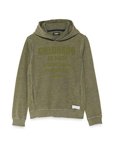 Bay City Textilhandels GmbH COLORADO DENIM Baby-Jungen Kapuzenpullover , Grün (Cypres 6351), 116 (Herstellergröße: 110/116)