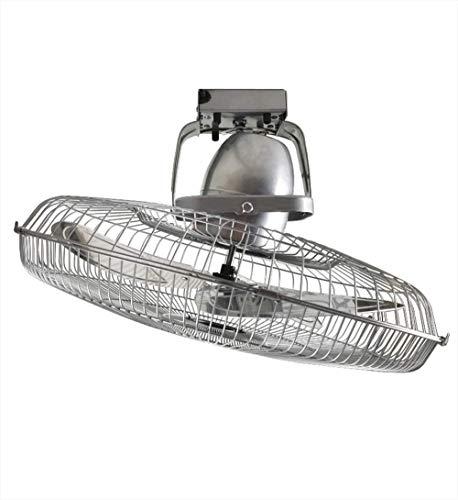 Plafondventilator van metaal, industriële ventilator, hoge prestaties, 360 graden draaibaar.