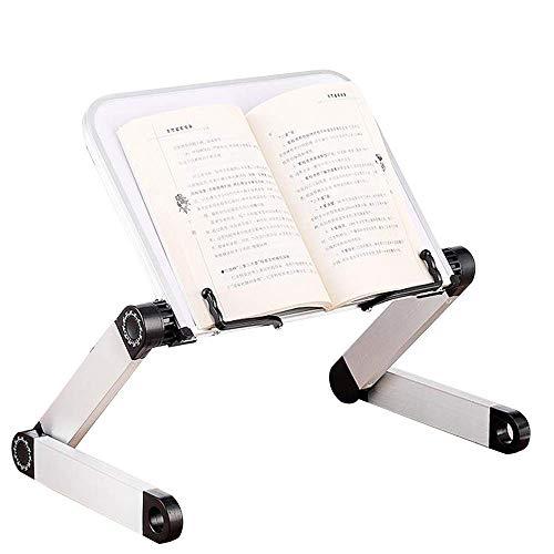 Vdual Leseständer Bookrest Kochbuchhalter für Küche und Büro-Buchständer Faltbar Einstellbare für PC Buch Tablet iPad Lehrbücher Steht Musicbook