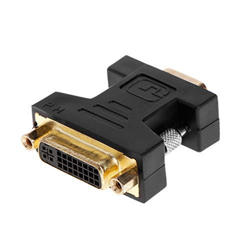 ZZALLL Adaptador de Conector analógico Hembra DVI-I (24 + 5) a VGA SVGA Macho (15 Pines)