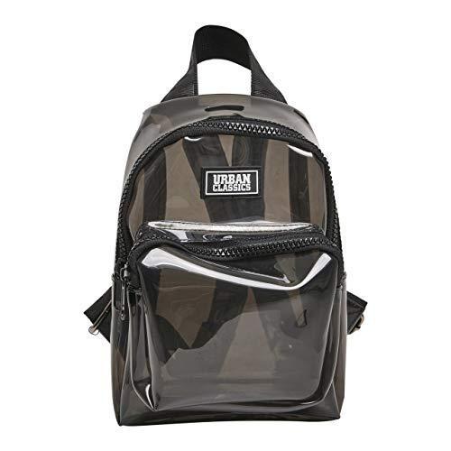 Urban Classics Transparent Mini Backpack Rucksack, 24 cm, 2,7 L, TransparentBlack