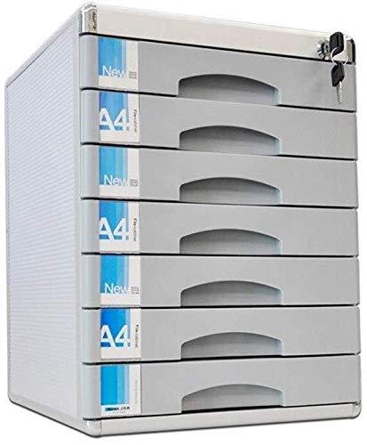 Rangement de dossiers Classeur Bureau Bureau Table Armoire à tiroirs multi-couche verrouillables stockage de données en alliage d'aluminium Boîte Petit White Label (30X36X30.5CM, 30X36X40.5CM) Porte f