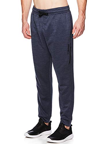 HEAD Men's Jogger Activewear Pants - Performance Workout & Running Sweatpants - Field Cool Grey Heather, Small