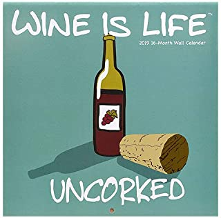 Wine is Life UNCORKED QUIMSY Quotes 2019 16-Month Wall Calendar 11
