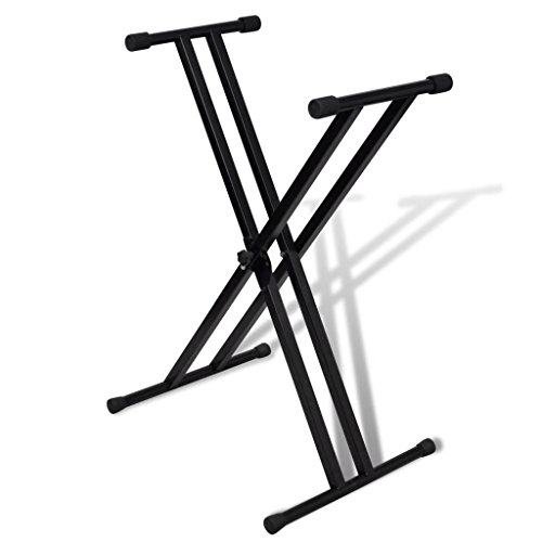 FZYHFA Ajustable Soporte Doblado,Atril Partituras,Fácil de Montaje de Teclado Musical Marco-X