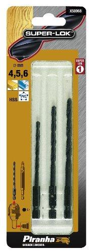 Piranha X50068-XJ - Punte da trapano HSS con gambo esagonale, 4,5/6 mm