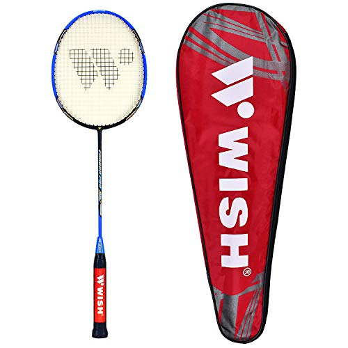 Wish Carbon Pro 98 Badminton Racket - Graphite Badminton Racket Set - Excellent Badminton Grip – Free Badminton Racket Case – Professional Badminton Racket