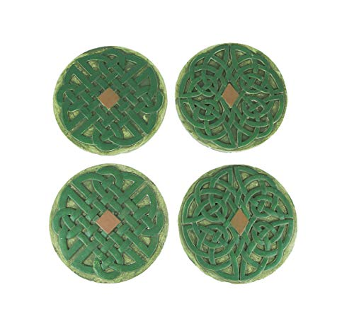Things2Die4 Set of 4 Celtic Knotwork Design Concrete Stepping Stones