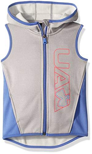 Under Armour Girls' Little Squad Vest, True Grey Heather Elevate, 4