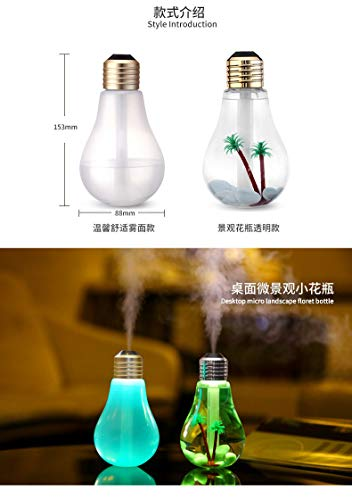 Lámpara LED humidificador Fragancia Aceite Incienso