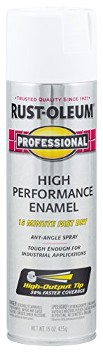 Rust-Oleum 7592838 Professional High Performance Enamel Spray Paint, 15 Ounce (Pack of 1), Gloss White
