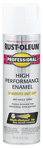 Rust-Oleum 7592838 Enamel Spray Paint, 15 Oz, Gloss White