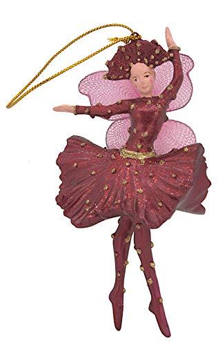 para Bailarina Bailarinas de Marfil Decoración de Navidad árbol de Navidad Color Rojo 15cm