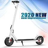 Mi Scooter Eléctrico, urbteter Patinete eléctrico Plegable Adulto y niño, con Alcance de 20 Km, 25km/h (Blanco)