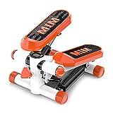 STEPPE Mini Stepper Machine Mute, 3 in 1 Swing Twister Stepper, display LCD e fasce di resistenza, design e qualità premium, ideale per allenare schiena, gambe, glutei