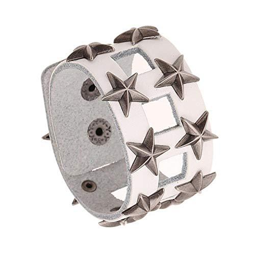 Axiba Charms Bracelet Hommes Femmes Punk Style Bracelet Accessoires Pentagramme Bracelet Cuir 2 Pièces Cadeau créatif