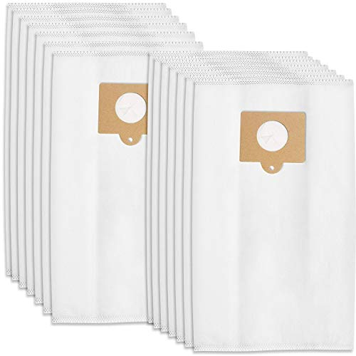 12 Premium Replacement Vacuum Bags Fits Kenmore Canister C/Q 50555, 50557, 50558 & Panasonic Type C-5 Nano-Closure Micro Filtration Powerful Patented Sealing System Traps Dirt & Extends Vacuum (white)