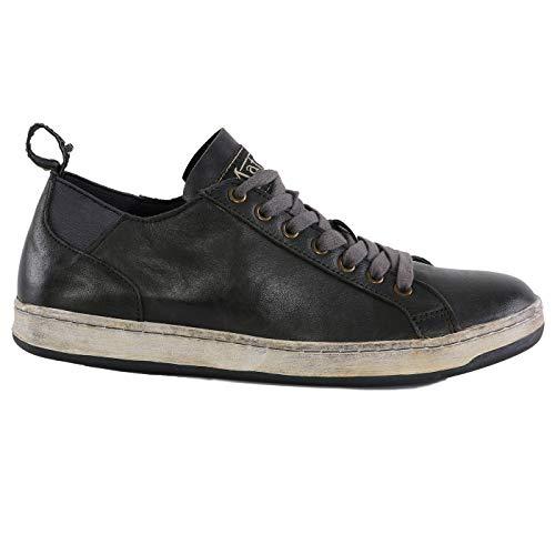 Matchless Damen Leder Sneaker Schuhe Brighton Low Antique Black 142040 Größe 37