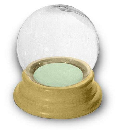 National Artcraft Snow Globe with Wood Base Makes a Fun Project for Do-It-Yourselfers