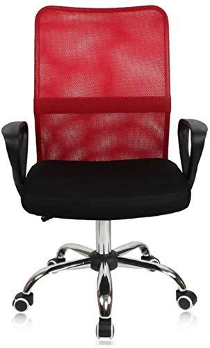 Xiuyun - Silla giratoria de oficina (centro de la espalda y malla) rojo