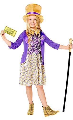 Déguisement Willy Wonka Charlie et la chocolaterie pour fille 4-10 ans (6-8 ans)