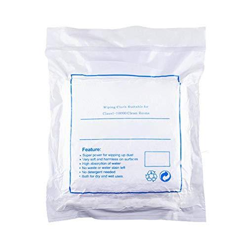 Reinigingsdoeken, 9 inch witte stofvrije reinigingsdoekjes, anti-statische reinigingsdoekjes voor lens, glazen, scherm, mobiele telefoon - niet-stofreinigingspapier (100 stuks)