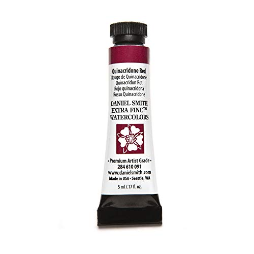 DANIEL SMITH Extra Fine Watercolor Paint, 5ml Tube, Quinacridone Red, 284610091