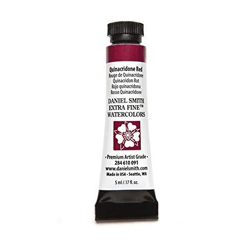 DANIEL SMITH 284610091 Extra Fine Watercolors Tube, 5ml, Quinacridone Red