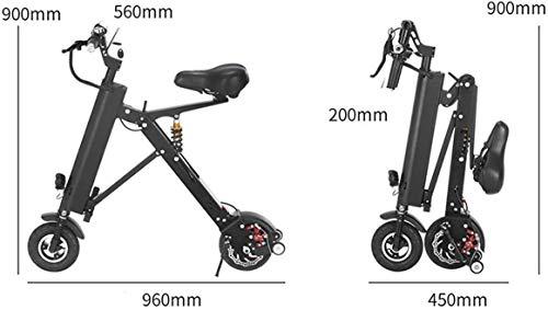 FEE-ZC Outdoor-Komfort Faltbare Elektroroller für Erwachsene, 36V 250W Elektro-Fahrrad Easy Carry Design, Stadt und Pendler mit geringem Gewicht, gelb, 36V, gelb, 36V