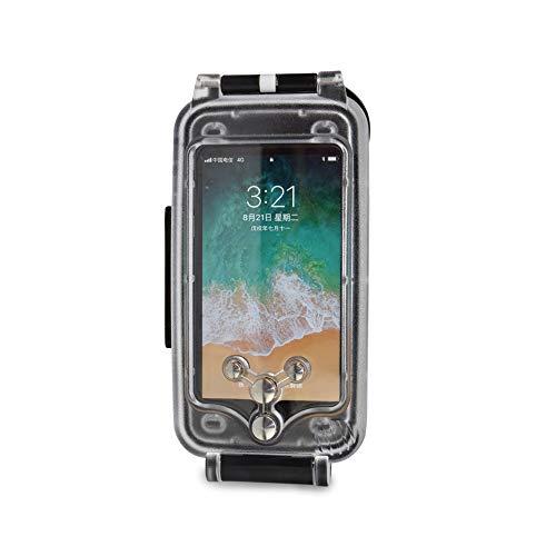 iPhone 6/6s Funda Impermeable Negra, 130ft/40m Profundidad Sellado Completo A Prueba de Golpes, Nieve, Polvo, Agua Certificado IPX8 Buceo Natación Surf Snorkel Funda 4.7 Pulgadas