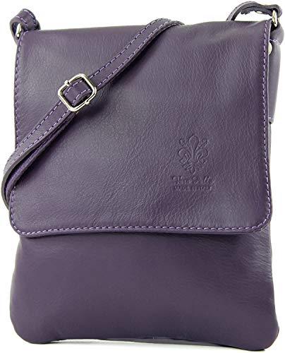 Craze London Genuine Italian Leather Verapelle Cross body Messenger Bag/Womens Ladies Verappele hand Bags (Dark Purple)