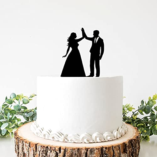 Decoración para tarta de boda de acrílico de Weding para novia y...
